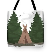 Teepee In The Woods Tote Bag