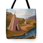 Teepees On The Plains Tote Bag