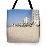 Tel Aviv Coastline Tote Bag