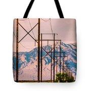 Telegraphpolestomountains Strawberry Tote Bag