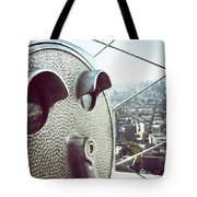 Telescope In Nyc Tote Bag