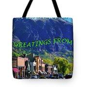 Telluride Greatings Tote Bag