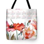 Template For Calendar 2013 Tote Bag