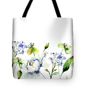 Template For Card With Decorative Wild Flowers Tote Bag