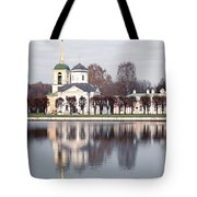 Temple And Bell Tower Tote Bag