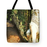 Temple Dog Tote Bag