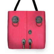 Temple Doors Tote Bag