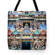 Temple Facade Chennai India Tote Bag