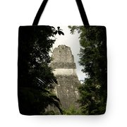 Temple In The Trees Tikal Guatemala Tote Bag