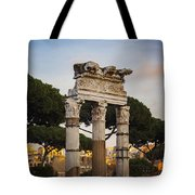 Temple Of Castor And Pollux Tote Bag