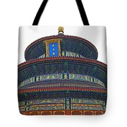 Temple Of Heaven Tote Bag