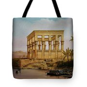 Temple Of Isis On The Nile River Tote Bag