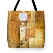 Temple Of Karnak  Tote Bag