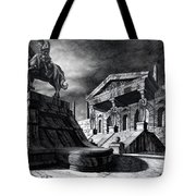 Temple Of Perseus Tote Bag