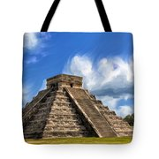 Temple Of The Feathered Serpent Tote Bag