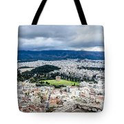 Temple Of Zeus - View From The Acropolis Tote Bag