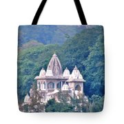Temple In The Distance - Rishikesh India Tote Bag
