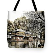 Temple On The Lake Tote Bag
