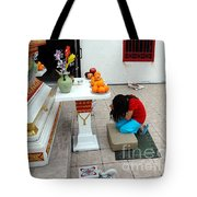 Temple Prayer Tote Bag