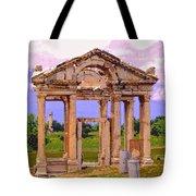 Temple Ruins At Ephesus Tote Bag