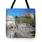 Temples In Ek Balam Tote Bag