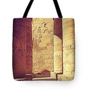 Temples Of Karnak  Tote Bag