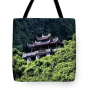Temples Of Tam Coc Vietnam  Tote Bag