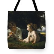 Temptation By William-adolphe Bouguereau Tote Bag