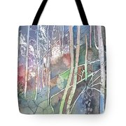 Ten Faces In The Mystical Forest Tote Bag