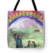 Ten Of Cups Illustrated Tote Bag