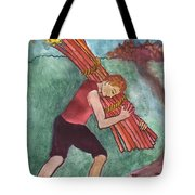 Ten Of Wands Illustrated Tote Bag