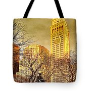 Ten Past Four At Madison Square Park Tote Bag
