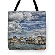 Tenby Harbour Texture Effect Tote Bag