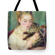 Tenderness Of A Woman Tote Bag