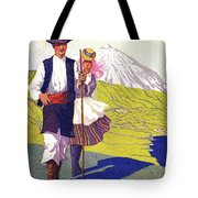 Tenerife, Canary Islands, Couple In Traditional Costumes Tote Bag