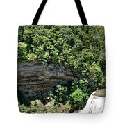 Tennessee River Gorge And Waterfall Panorama Tote Bag