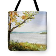 Tennessee River In The Fall Tote Bag