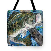 Tennessee River Largemouth Bass Tote Bag