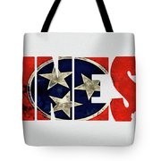 Tennessee Typography Map Flag Tote Bag
