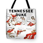 Tennessee Versus Duke 1955 Football Program Tote Bag