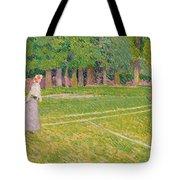 Tennis At Hertingfordbury Tote Bag