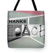 Tennis Coach Alphabet Art Tote Bag