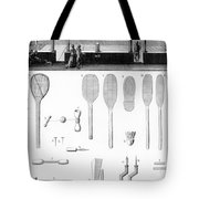 Tennis Court And Rackets Tote Bag