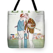 Tennis Court Romance, 1925 Tote Bag
