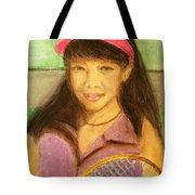 Tennis Player, 8x10, Pastel, '07 Tote Bag