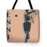 Tennis Player Pop Art Poster Tote Bag