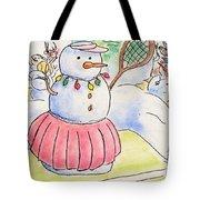 Tennis Snowlady Tote Bag