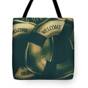 Tension On The High Seas Tote Bag