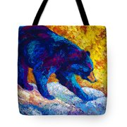 Tentative Step - Black Bear Tote Bag