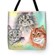 Tentative Trio Tote Bag
